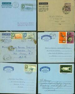 Barbados - Lot of Postal stationary on Air Letter (x6).........(VG) MV-4457