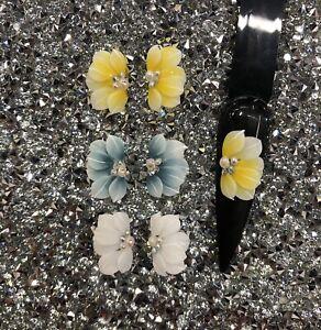 3D Nail Flower - acrylic Nail flowers (Set 4pcs)