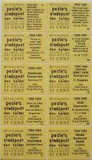 Stadspost Den Helder 1983 - Velletje v 10 betaalzegels met diverse teksten 57-98