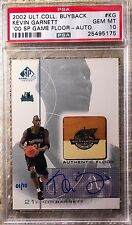 2002 ULTIMATE BUYBACK FLOOR AUTO 1/10 KEVIN GARNETT PSA 10 POP 1