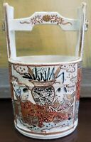 Late 19th Century Japanese Satsuma Porcelain Well Bucket (Meiji Period)