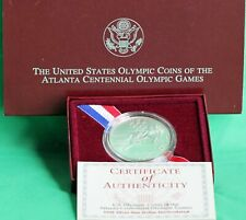 1995 Olympic Track and Field US Mint BU Silver Dollar Coin with Box and COA