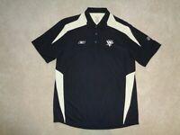 Men's Reebok NHL Pittsburgh Penguins Black Short Sleeve Polo Shirt - Size M