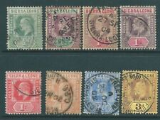Sierra Leone Edward Vii used stamp collection