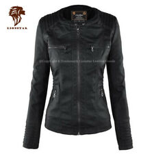Lionstar Stylish Latest Top Quality Winter Extra Warm Real Leather Ladies Jacket