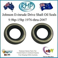 2 x New Johnson Evinrude Drive Shaft Oil Seals 9.9hp-15hp 1976-thru-2007  321480