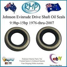 2 x New Johnson Evinrude Drive Shaft Oil Seals 9.9hp-15hp 1976-thru-2007  321480