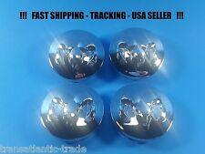 """4 New Chrome Center Caps For Dodge Ram 2.5"""" 63mm Center Logo Cap Rim Emblem"""