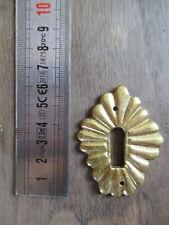 ancienne garniture de porte entrée de serrure en bronze doré meuble/armoire