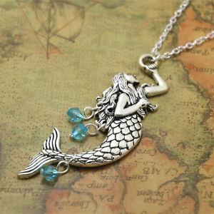 Mermaid Silvertone Chain Necklace