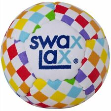 Swax Lax 3-Pack Lacrosse Training Ball - Rainbow Check - Soft - Reg. Weight/Size