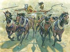 Italeri 1/32 Gladiators W Quadriga Chariot 4 Horses & 2 Figures Model Kit 6874