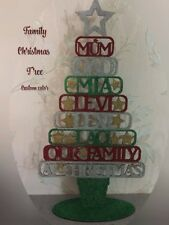 Our Family At Christmas  Tree , Family Tree Sparkle , Christmas Tree ,Xmas Gift