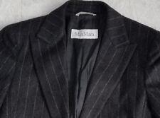 Max Mara virgin wool angora cashmere size 6 coat jacket suit blazer