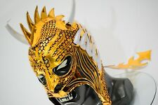 DRAGON WRESTLING MASK LUCHADOR WRESTLER LUCHA LIBRE MEXICAN  MASK GOLD