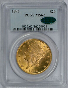 1895 $20 Liberty Gold Double Eagle MS62 PCGS CAC graded!!