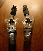 2 New Men's Belts Black & Brown Leather Belts Size  46,48,50,52,54, and 56