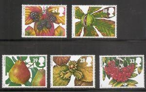 Great Britain SC # 1510-1514 Autum fruits.  MNH