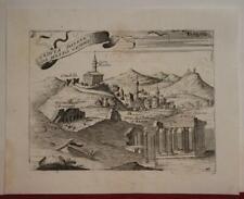 ATHENS GREECE 1713 LASOR A VAREA ANTIQUE ORIGINAL COPPER ENGRAVED CITY VIEW