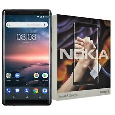 New Nokia 8 Sirocco Single-SIM 128GB TA-1005 Black Factory Unlocked 4G Simfree