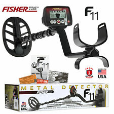 "Fisher F11 Metal Detector with 11"" Dd Waterproof Elliptical Search Coil"