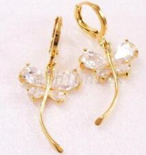 Orecchini di bigiotteria in oro in ottone di pietra principale perla (imitazione)