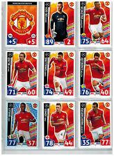 18x Match Attax Championsleague 17/18  Manchester United  Team Set komplett.