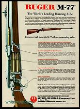 1982 RUGER M-77 M77 Rifle AD w/view of mechanism