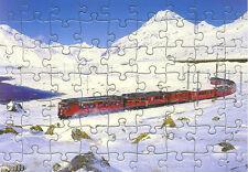 Eisenbahn Kinder-Puzzle  ·  Elektro-Triebwagen ABe 4/4 Bernina-Express · NEU/OVP