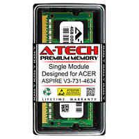 4GB PC3-10600 DDR3 1333 MHz Memory RAM for ACER ASPIRE V3-731-4634