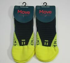 2 Pairs - Tommy John Move Performance Athletic Ankle Socks YELLOW Men- Sz 8-10.5
