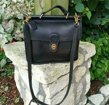 Vintage Coach Willis Black Leather Purse with Handle Handbag Purse