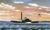"""perfect 36x24 oil painting handpainted on canvas """"steam tug """"@N9671"""