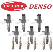 For Jaguar S-Type X-Type 6 Ignition Coils Delphi & 6 Spark Plugs Denso KIT