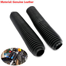 Rubber Black Fork Dust Covers Gaiters Boots Shock Fit For Motorcycle Dirt Bike