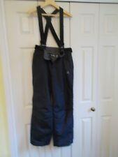 "Black ski salopettes, size: 28"", height 157 cms"