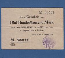 ANNEN 500.000 Mark 1923  III / VF