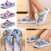 Men Women Slip On Garden Clogs Boat Shoes Rubber Sole Beach Sandals Slippers