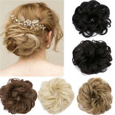 Lady Real Natural Curly Messy Bun Hair Piece Scrunchie New Fake Hair Extensions