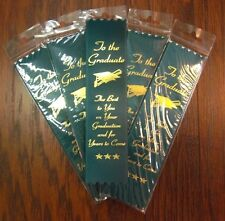 """TO THE GRADUATE ..."" Award 2"" x 8"" Foil-Stamped Ribbons -- LOTS of 50"
