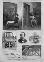 CHARLES GUITEAU THE DOOMED ASSASSIN IN PRISON WARDEN GALLOWS HANGMAN'S NOOSE