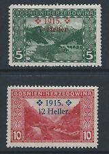 Bosnia 1915 Sc#B3/4 MLH semi-postal stamps