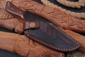 Custom Handmade Hand  Engraved Leather Sheath Fixed Blade Knife / Holster/ Case.