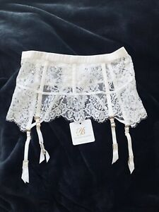 🤍🤍 BRAND NEW Honey Birdette Maria Ivory Lace Suspender Size XS With Tags 🤍🤍