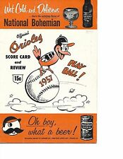 1957 Baltimore Orioles-Indians Program Narleski Blanks Birds NICE!!