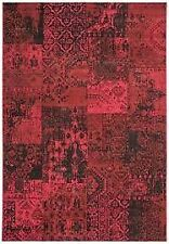 Revive Modern Red Distressed Soft Polypropylene Classical Patchwork...