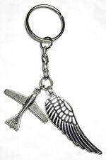 Pilot Gift Key Ring Aeroplane & Angel Wing Plane Keyring Souvenir
