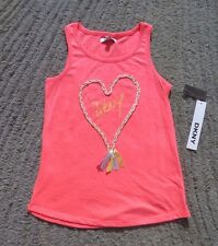 DKNY Girls Coral Tank Top - Size M - NWT