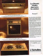 PUBLICITE ADVERTISING 064  1969  SCHOLTES   éléctroménager