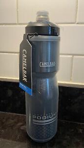 NEW Camelbak Podium Chill Insulated 24oz Bike Cycling Water Bottle Smoke Black